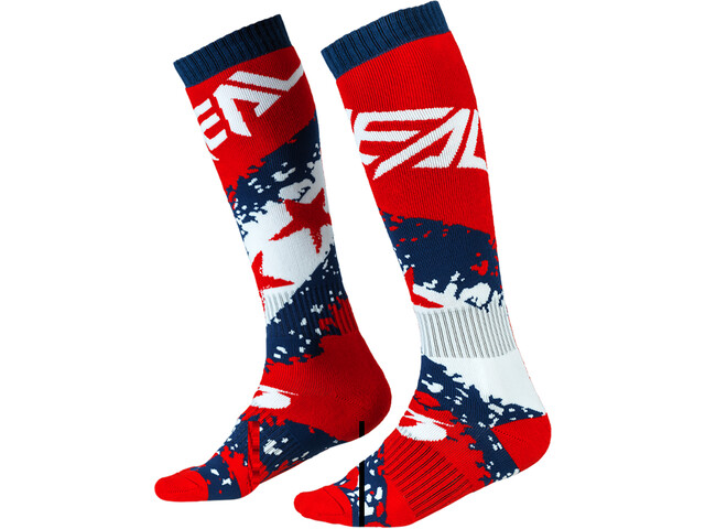 O'Neal Pro MX Chaussettes, stars-red/blue